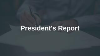 President's Report 2020